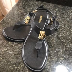 NWT leather MK sandals